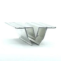 Профиль алюминиевый для натяжных потолков — W-образный, сепарационный. Длина профиля 2,5 м.