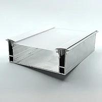 Профиль алюминиевый для натяжных потолков — парящая линия, с линзой, со вставкой. Длина профиля 2 м.