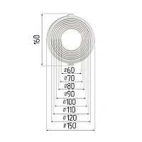 Платформа круглая универсальная для встроенных светильников 60-120 мм
