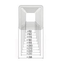 Платформа универсальная квадратная для встроенных светильников размерами 150-230мм