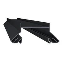 Профиль алюминиевый для натяжных потолков, черный, для черных ниш.