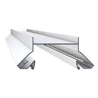 Профиль алюминиевый для натяжных потолков , белый для ниш под светильники