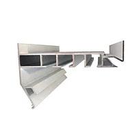 Профиль алюминиевый для натяжных потолков — Гардина трехполосный