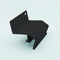 Профиль алюминиевый для натяжных потолков — парящий, усиленный, крашеный черный, без вставки №3.